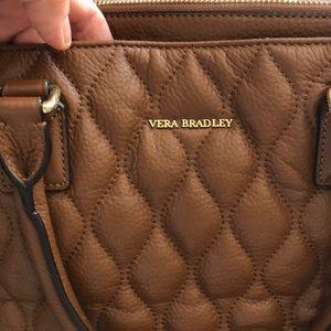 Vera Bradley quilted Emma satchel/ cognac